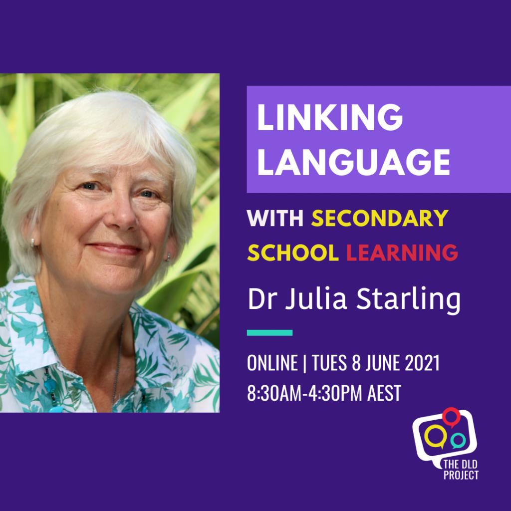 DLD Educator training LINK-S Dr Julia Starling